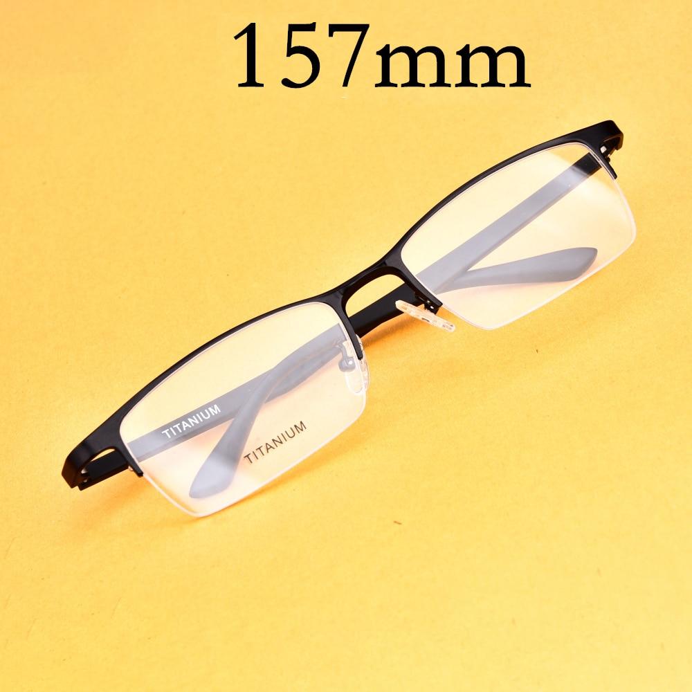 Evove gafas de gran montura para hombre, de gran tamaño monturas de gafas, gafas de titanio para gafas de prescripción Semi sin montura