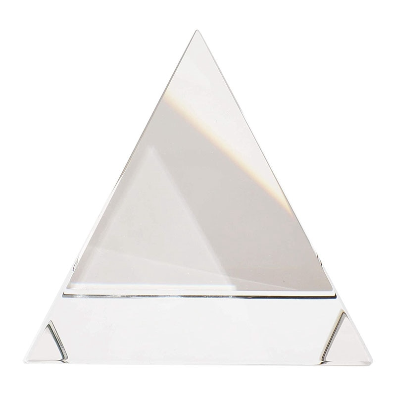 Glass Crystal Pyramid Office Home Decoration Ornaments Cube Prism Pyramid Suitable for Teaching Equi