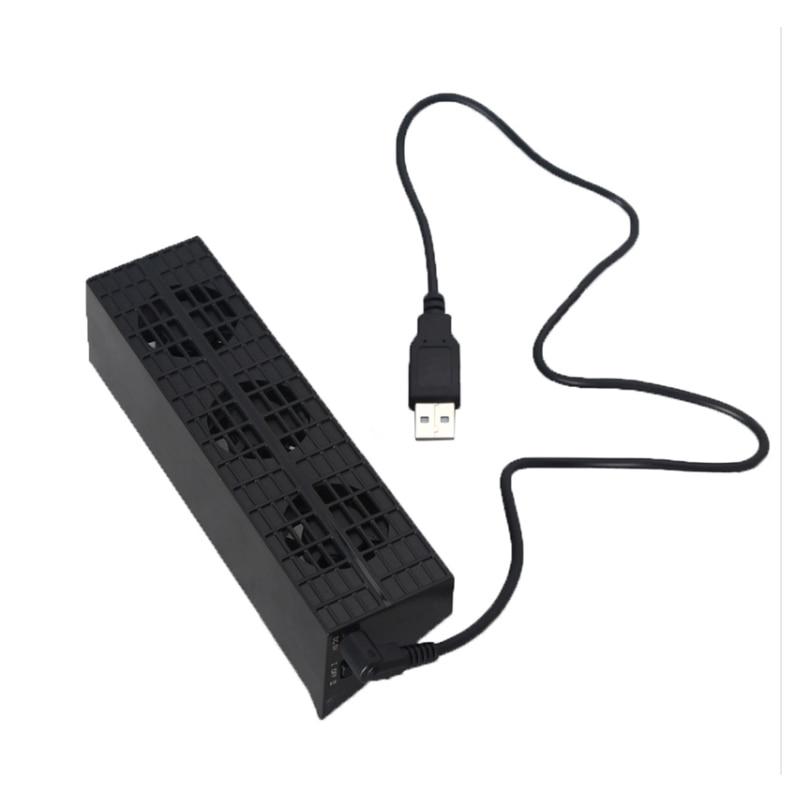 Preto usb ventilador de refrigeração exaustor calor cooler controle temperatura 3 coolling ventiladores para playstation ps4 magro game console TP4-819