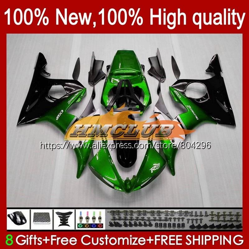 YZF-R6 الجسم لياماها YZF R6 600CC 03-05 YZFR6 03 04 05 57No.0 YZF 600 R 6 YZF-600 YZF600 2003 2004 2005 هدية الأخضر أسود