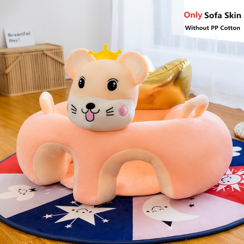 Cute Cartoon Baby Sofa Cover Learning to Sit Seat Feeding Chair Case Kids Baby Sofa Skin Infant Baby Seat Sofa Without Cotton