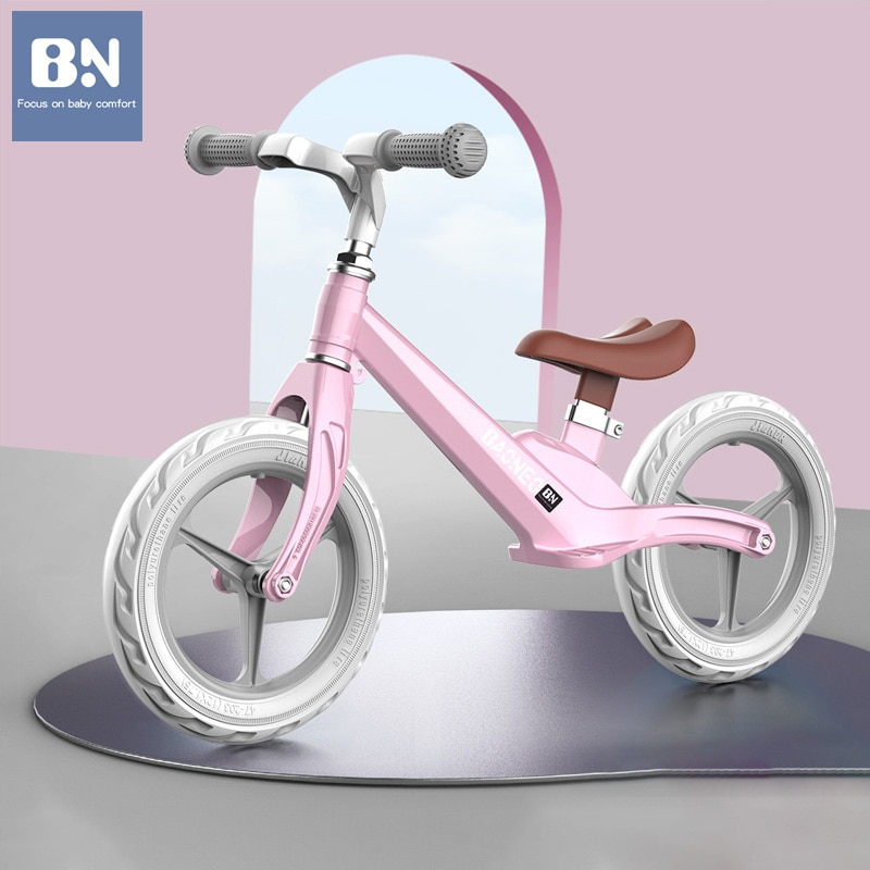 BN Non-inflatable Bicycle Bike Baby Walkers with 2 Wheels Children's Balance Scooter for 1-6 Years Kids Girl Boy Ride on Car Toy