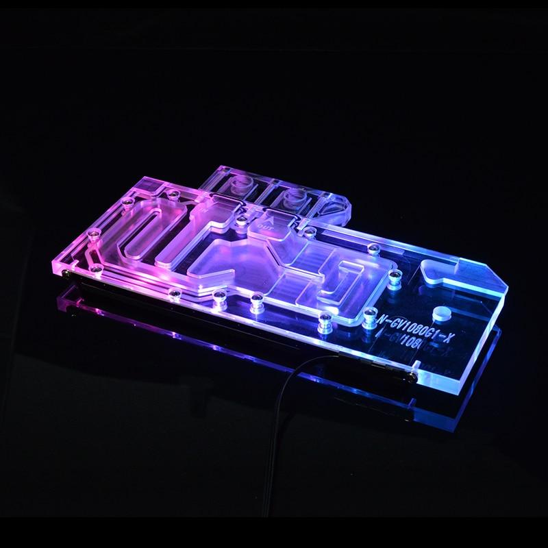 Syscooling بطاقة جرافيكس كتلة تبريد المياه لجيجابايت GTX 1070 G1 الألعاب 8G