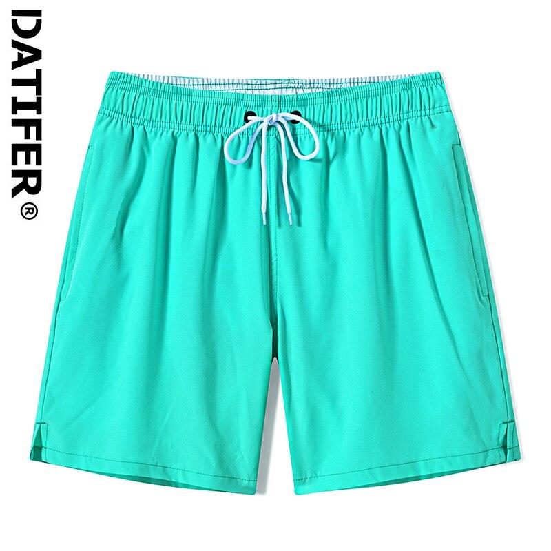 Datifer New Summer Beach Men's Shorts Printing Casual Quick Dry Board Shorts Bermuda Mens Short Pants Elastic Waist D503A