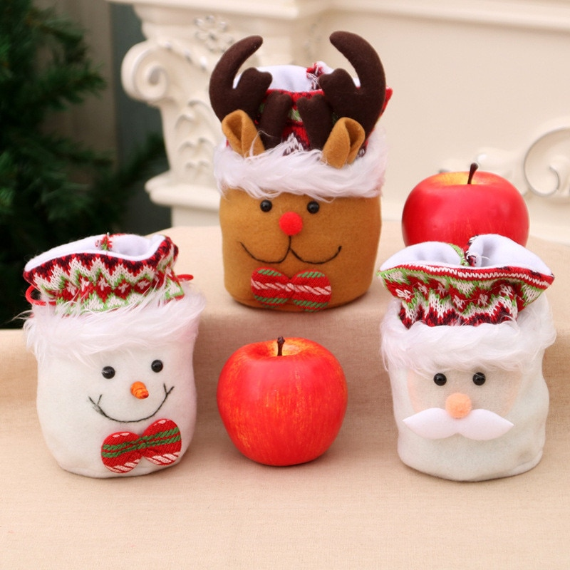 Christmas Bag Cute Snowman Bunch of Candy Flannel Xmas Products Children's Gift Bags Storage Holiday