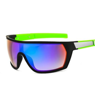 2021 Fashion One-Piece Sports Sunglasses Men Classic Rectangle Outdoor Sport Sun Glasses Man Flat To