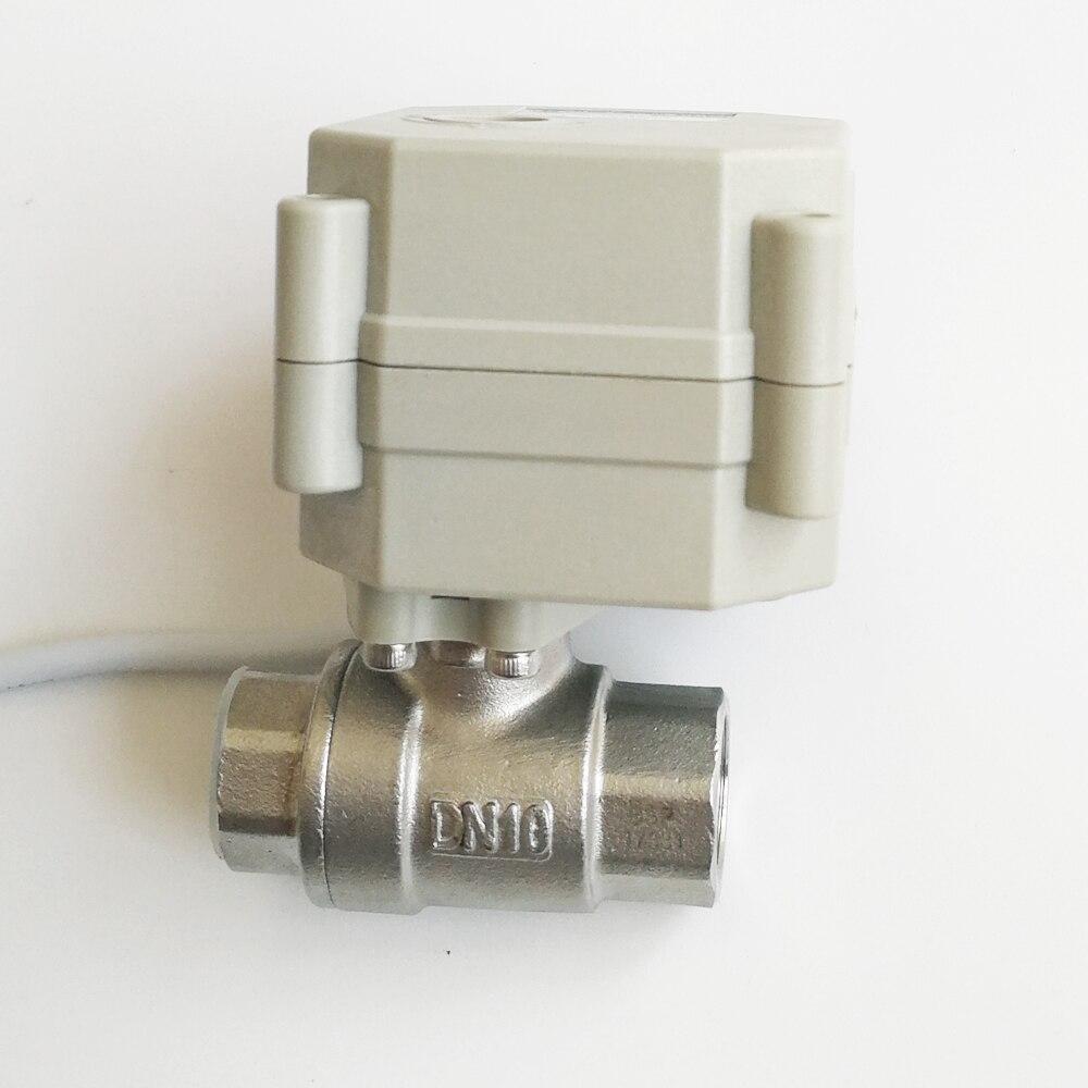 TFM10-S2-C ، 0-5 فولت 0-10 فولت أو 4-20mA صمام تناسبي التيار الكهربائي DC12V ، DC24V 2 طريقة الفولاذ المقاوم للصدأ 3/8 ''DN10