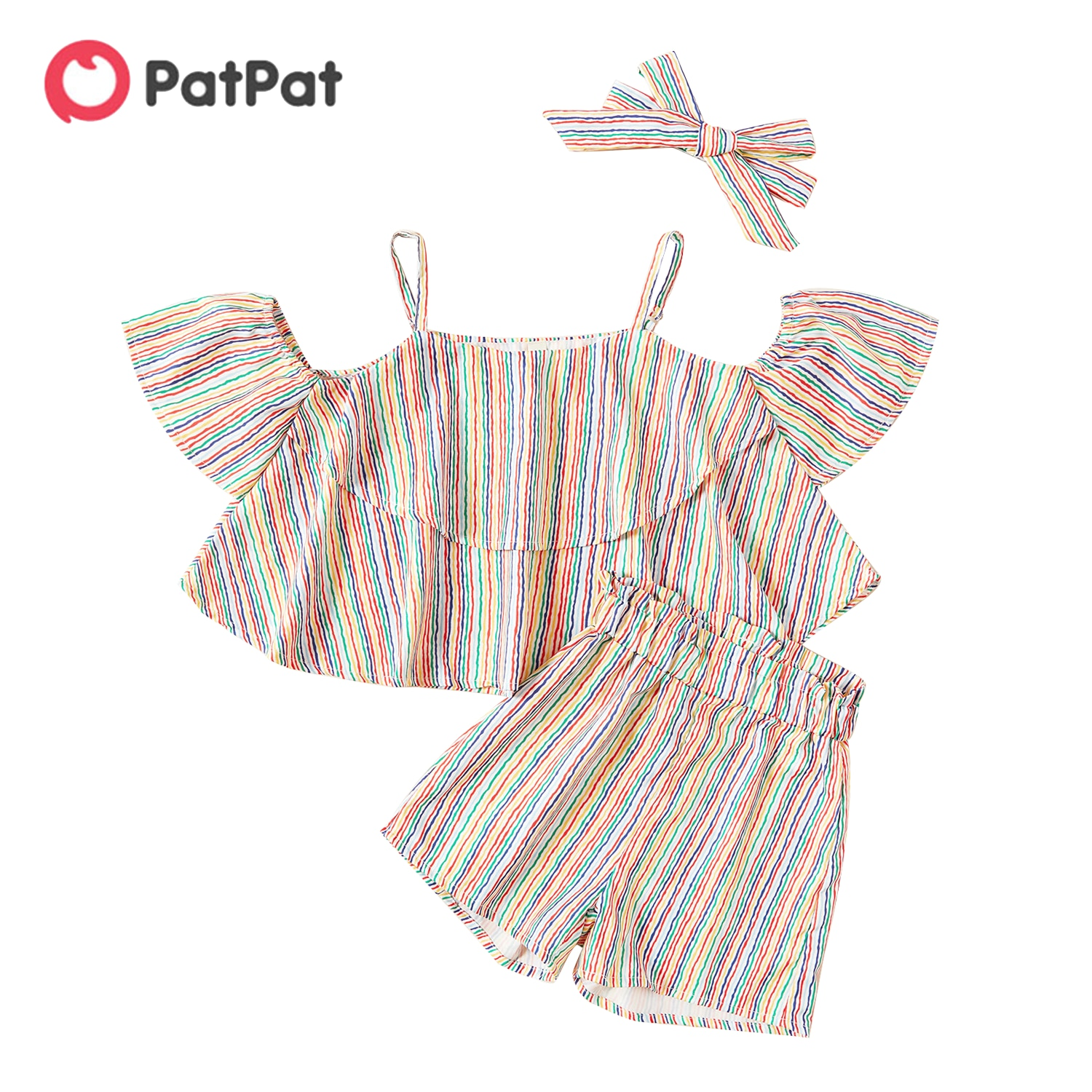 PatPat 2021 New Arrival 2-piece Baby / Toddler Boy Camouflage Tee and Shorts Set