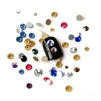 different colors non hotfix rhinestones flat back pixie glass strass diy clothes shoes bags garment decoration nail art designs