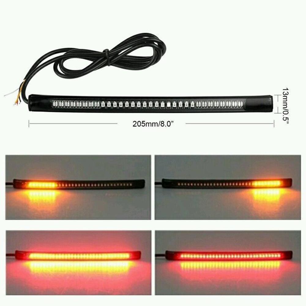 Tira de luces LED de 48 leds, luz de señal Universal superbrillante para decoración de coches, motocicletas y camiones