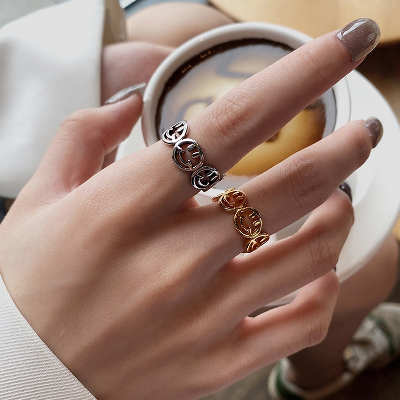 Женское-кольцо-смайлик-из-серебра-925-пробы