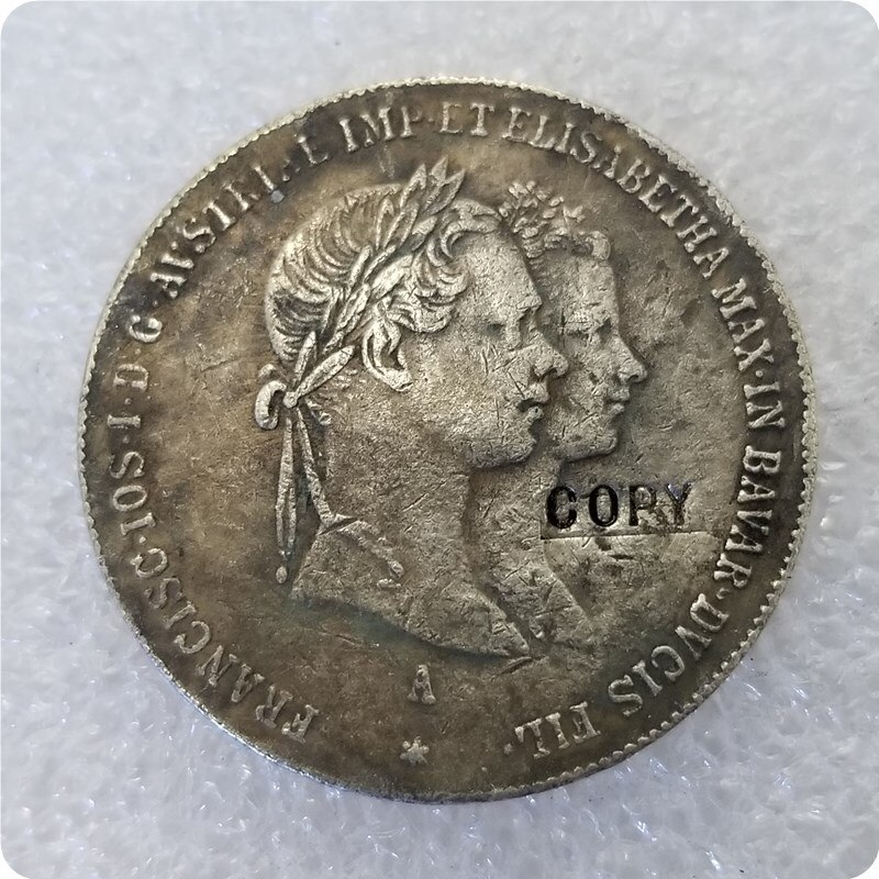 Moneda de copia Austria - Habsburg 1 gulden-francisco Joseph I 1854
