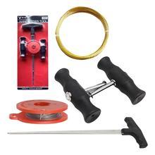 5 uds coche quita limpiaparabrisas herramienta de ventana de cristal de la hoja de un cuchillo herramientas r de oro de la cuerda de alambre de cordón de herramienta de reparación de herramienta
