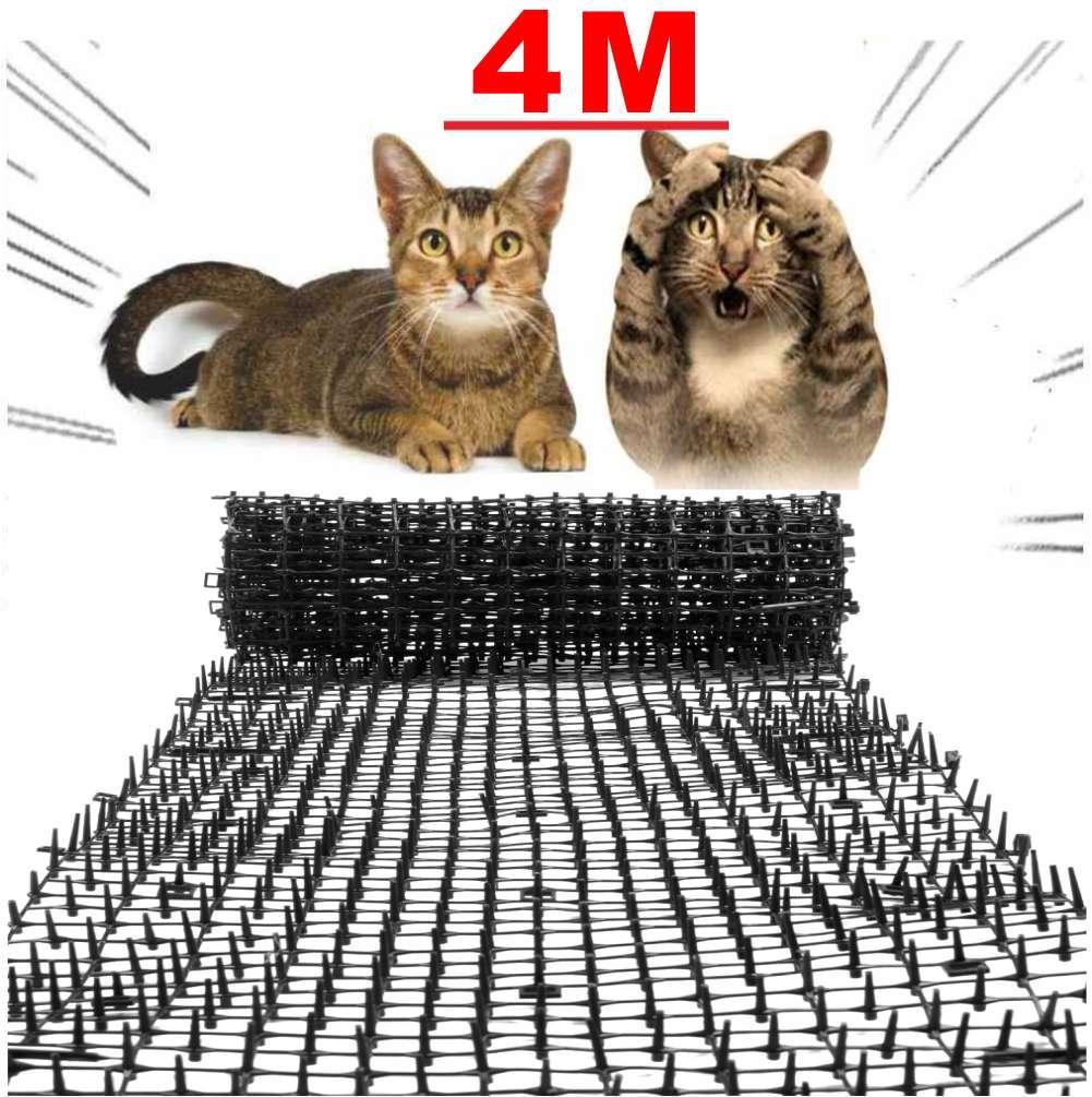 4M Garden Cat Scat Mats Repellent Mat Anti-Cat Net Prickle Strips Plastic Spike Thorn Safe Keep Cat Dog Away Digging Pets Supply