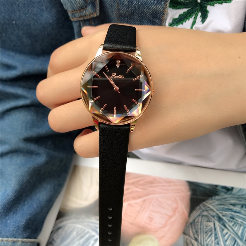Reloj de pulsera analógico informal para mujeres y niñas
