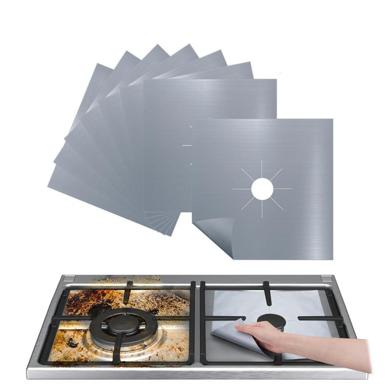 Многоразовая фольгированная крышка, защитное покрытие для газовой плиты, антипригарная плита, конфорка, листы, чистый вкладыш для кухонной посуды, коврик для приготовления пищи