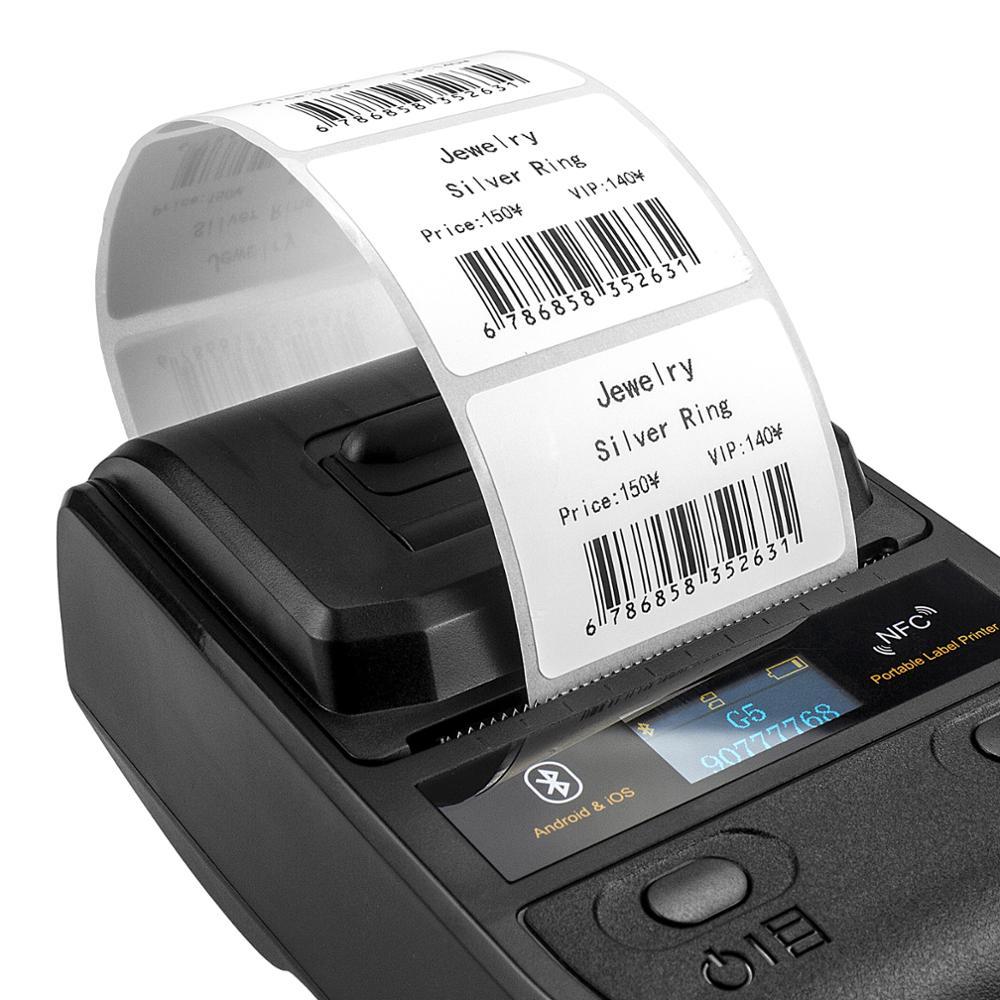 NETUM 10 لفات/مجموعة ورق الطباعة الحرارية للطابعة الحرارية لاصق الباركود/التسمية/نوع الحرارية لاصقة NT-G5