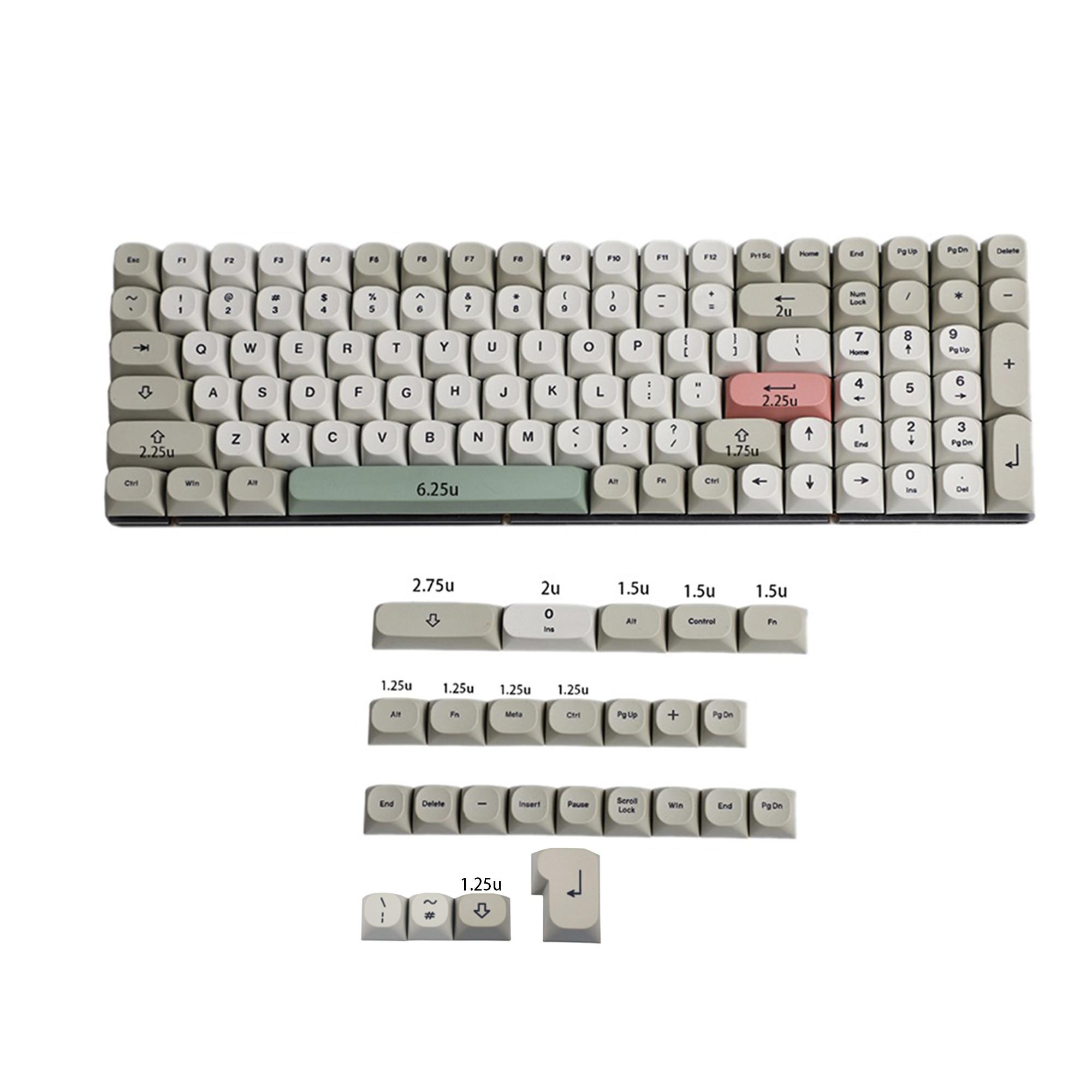 125 MA Dye Sub 9009 Retro PBT Keycap For MX Mechanical Keyboard 104 TKL 61 KBD75 Kira96 YMD96 GK64 Tada68 ID80 enlarge
