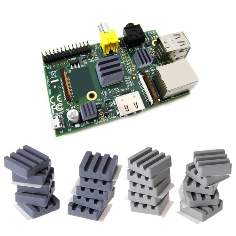 10 PCS Keramik Kühlkörper CPU Kühlung dissipador für Raspberry Pi 3 2B Orange Pi R9JB