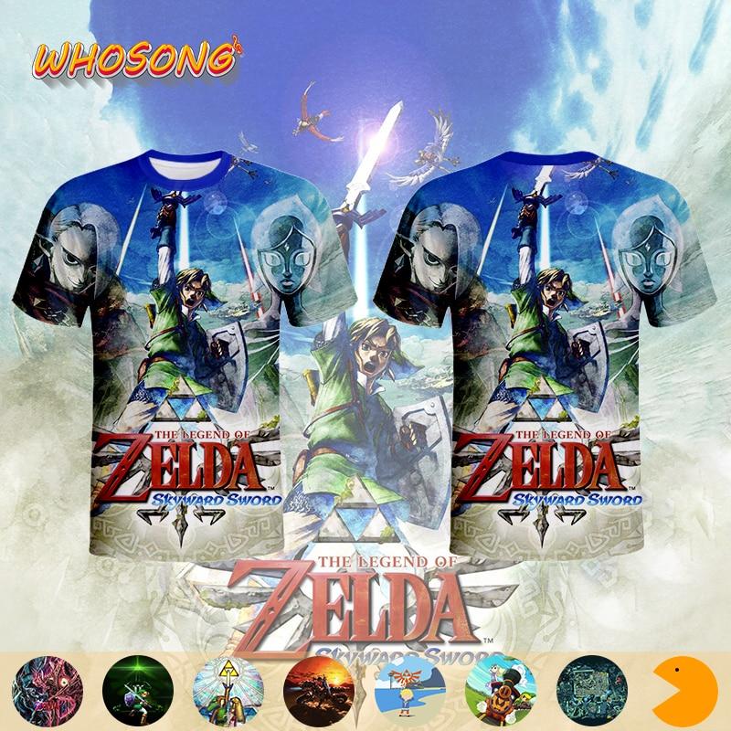 WHOSONG  Nintendo top game 3D Zelda funny t shirt interesting children clothes mens jacket sportswear