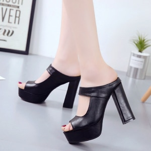 sandal Women 2021 Sandals Slippers Thin High Heels Sandals women Flip Flop Buckle Hollow Slippers Sexy Slides platform shoesheel