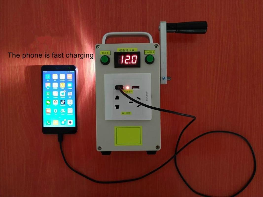 220 فولت 12 فولت 5 فولت المحمولة متعددة الوظائف كرنك اليد مولد الناتج قوة البنك كشاف طوارئ قابل لإعادة الشحن