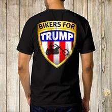 Bikers para Donald Trump Negro hombres camiseta 2020 elección gráfico Tee tamaño S-5XL