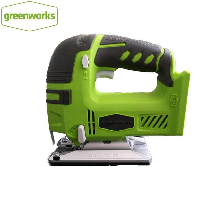 Greenworks 24 فولت بطارية الرقصة المنشار اللاسلكي بانوراما سريعة شفرة تغيير منشار كهربائي مصباح ليد
