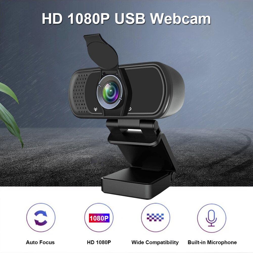 1080P كامل HD USB كاميرا ويب مع ميكروفون لمؤتمر الفيديو بث مباشر الرقمية USB مسجل فيديو مكتب المنزل