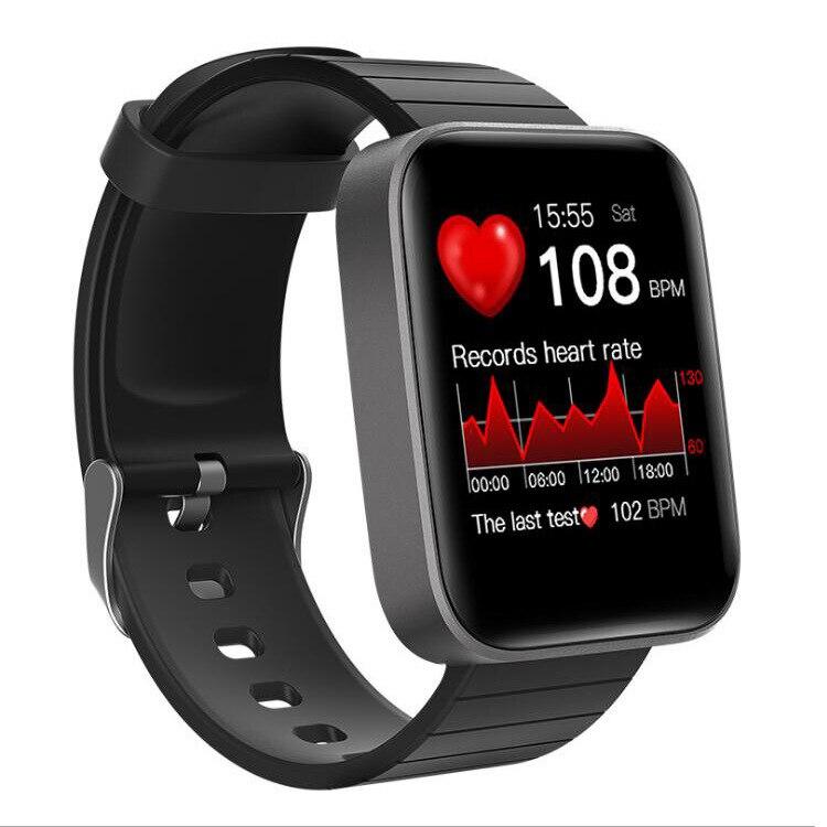 2021 جديد درجة حرارة الجسم ساعة ذكية معدل ضربات القلب مراقبة ضغط الدم بلوتوث الرياضة سوار بعداد خطوات ساعات رجالية