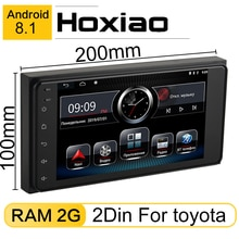 Coche 2 din Android 8,1 Gps reproductor de Radio para Toyota Camry Viso Corolla Altis deseo Nissan tamaño 200*100 Gps Android reproductor de coche