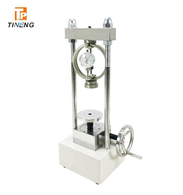 جهاز اختبار ضغط غير محصور سلالة التربة