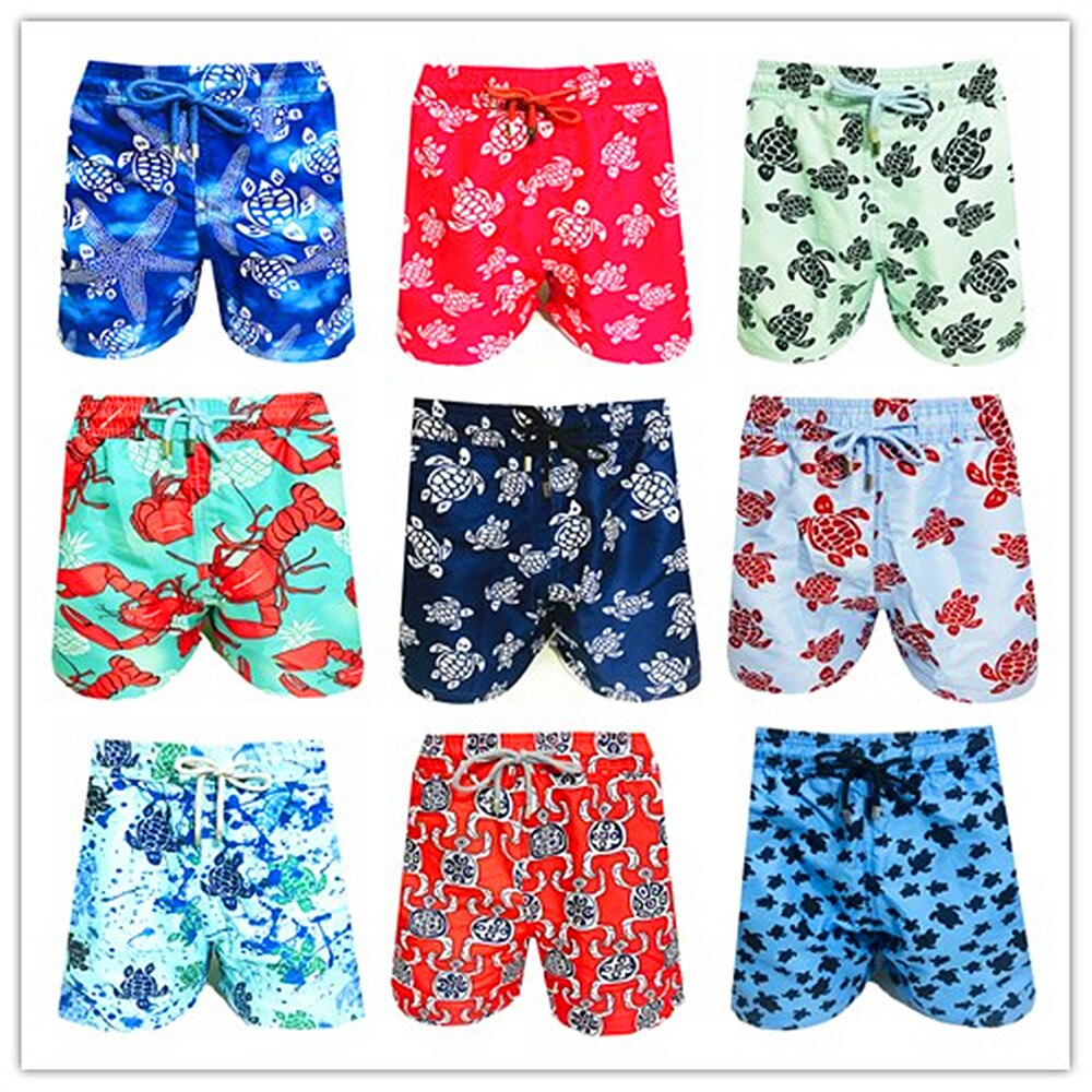 2021 Bermuda Brand Fashion Brevilepullquin Beach Boardshorts Male Turtles Swimwear Starfish Lobster Mens Hawaiian Shorts M-XXXL