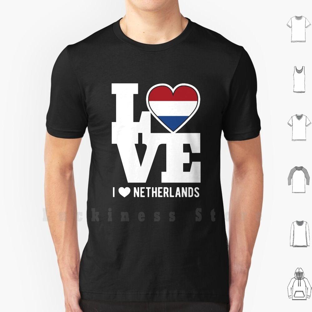 Love Netherlands T - Shirt Patriotic Dutch Expat T Shirt Cotton Men DIY Print Netherlands Love Netherlands Patriot