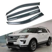 for ford explorer u502 2011 2019 car window sun rain shade visors shield shelter protector cover trim frame sticker accessories