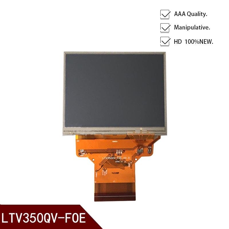 3.5 inç LTV350QV-F06 LTV350QV-F09 LTV350QV-FOE lcd ekran digitizer Saeco Primea touch plus GPS PND paneli