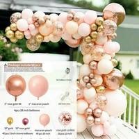 96x macaron peach rose gold balloon arch kit garland baby shower party decor christmas wedding decoration