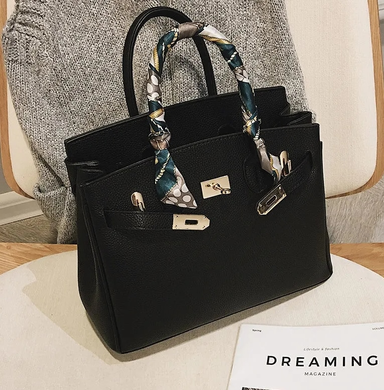 Luxury Brand Exquisite  Shopping Bag Retro Casual Women Totes Shoulder Bags Female Leather Solid Col