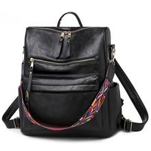 Women Backpack Purse Waterproof Nylon PU Leather Rucksack Lightweight School Shoulder Traval Bag