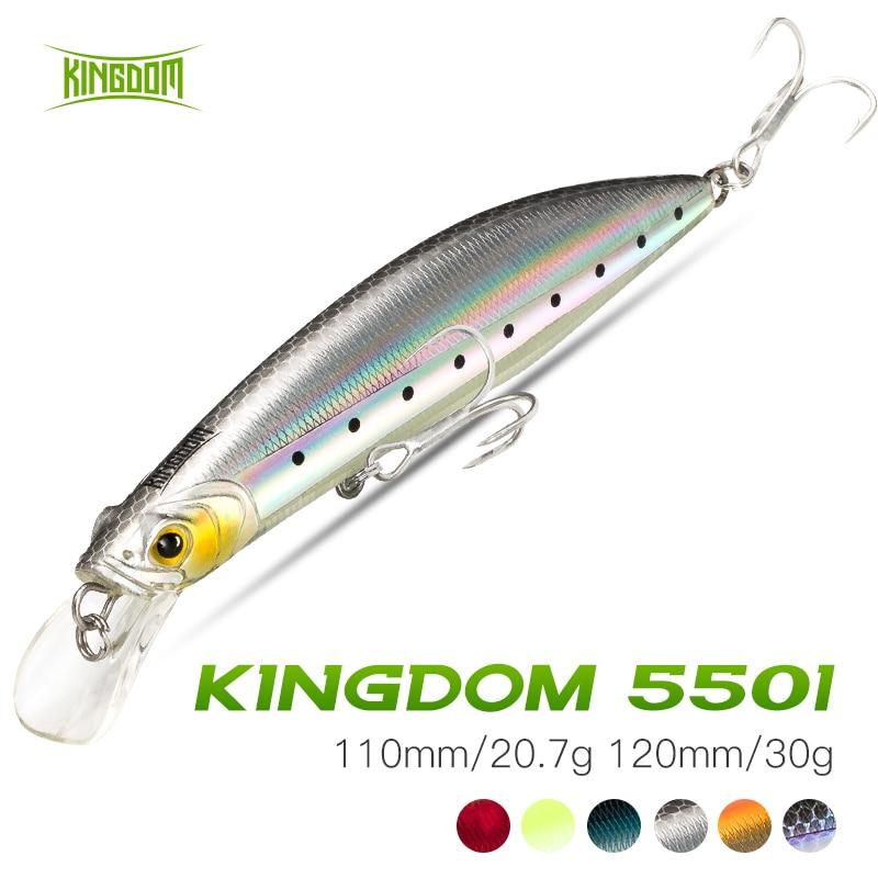 Kingdom Floating Minnow Fishing Lure 100mm/20.7g 120mm/30g Hard Crank Swimming Jerkbait Fishing Wobbler For Pike Bass Fishing