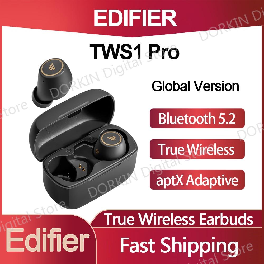 Original Edifier TWS1 Pro Bluetooth 5.2 True Wireless Earbuds aptX Fast charging TWS IP65 cVc8.0 Noise Cancellation Earphone
