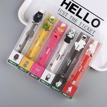 1pcs Kawaii Cartoon Erasable Pen Useful Best Gift For friend Kawaii Creative Ink Rods Thermal Magic Gel Pen School Writing Tools