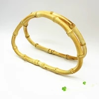 1 pc vintage round bamboo bag handle for hand crafted handbag diy replacement bag accessories high quality 12cm15cm