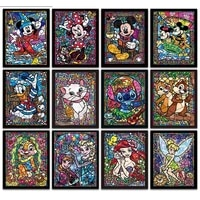 full square drill embroide 5d diamond paintingcartoon characters disney mouse cat embroidery cross stitch mosaic home decor