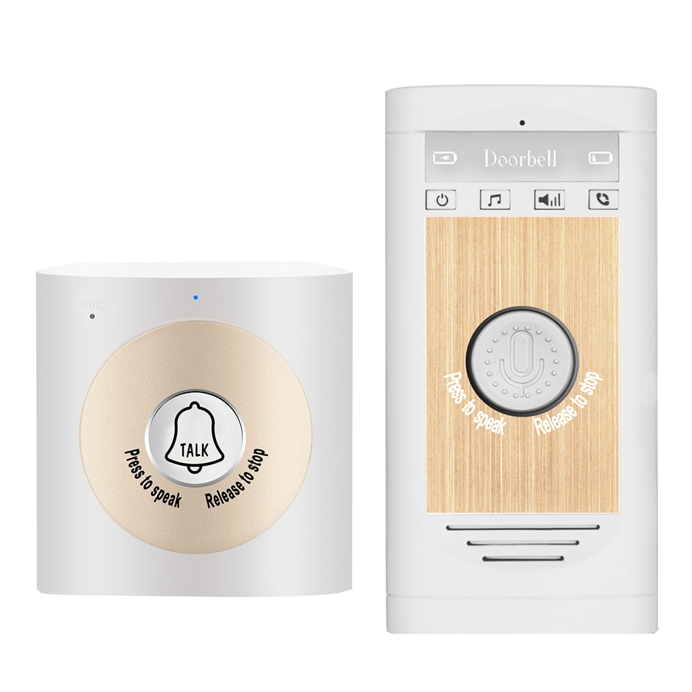 Wireless Voice Intercom Doorbell 2-way Talk Monitor Unit Smart Home Security Door Bell enlarge