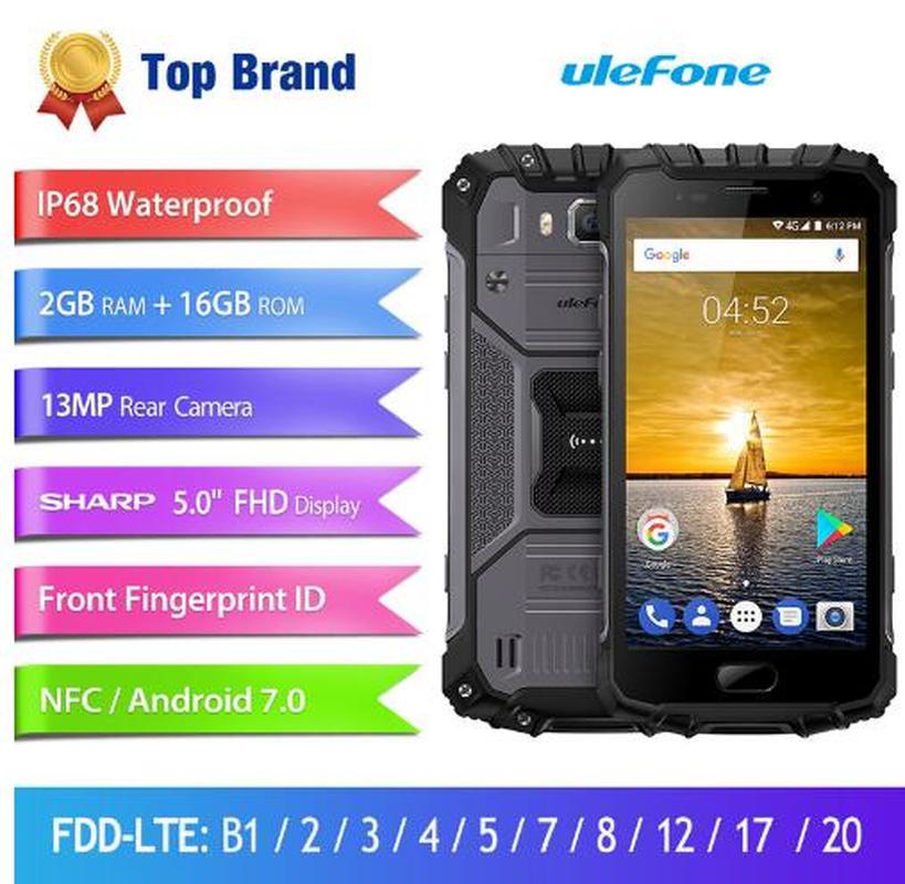 "Globale Version Ulefone Rüstung 2S IP68 Wasserdichte Smartphone 5.0 ""FHD Android 7,0 MTK6737T Quad Core 2GB 16GB 4G LTE Robuste Telefon"