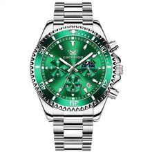 POEDAGAR 2021 New Men Watches Top Brand Luxury Luminous Calendar Waterproof Green Ghost Series Stain