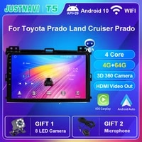car radio android 10 0 carplay no 2 din autoradio for toyota prado land cruiser prado 2004 2009 multimedia dvd player gps camera