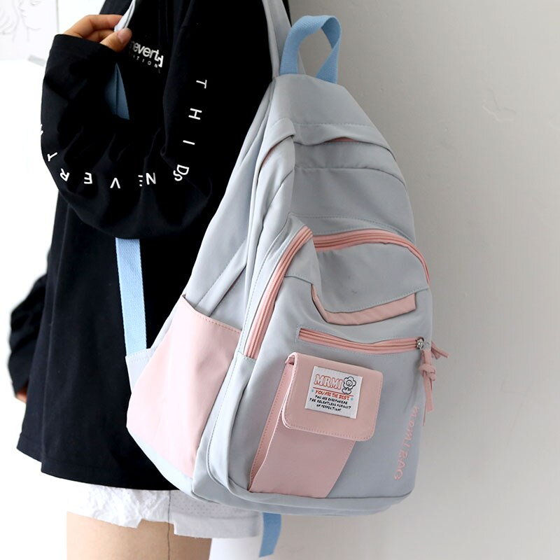 Harajuku Backpack for Girls Female Kawaii Book Fashion Cute Ladies Bag Waterproof Nylon Backpack Student Women School Bag Laptop рюкзак xiaomi 90 points commuter ladies backpack laptop waterproof nylon bag blue