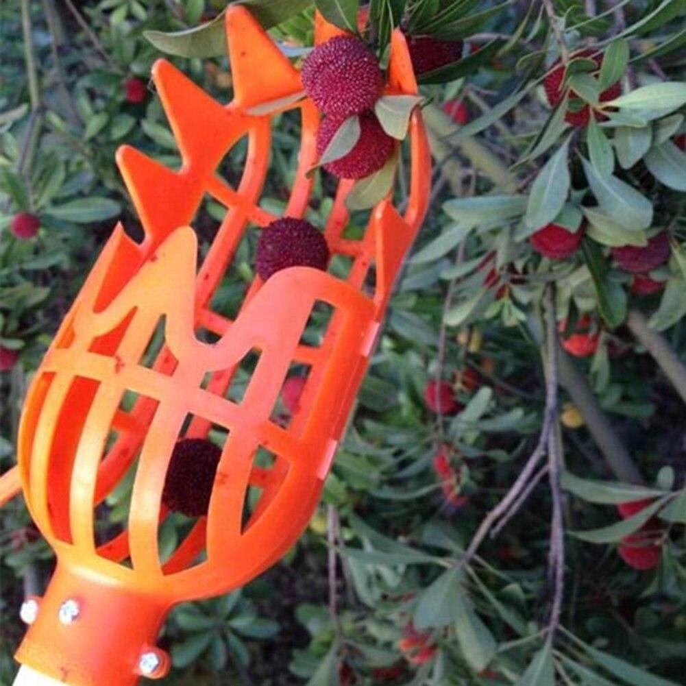Nova fazenda jardim ferramentas de frutas picker cabeça jardinagem plástico efeito estufa frutas coleção picking dispositivo apanhador sem alça